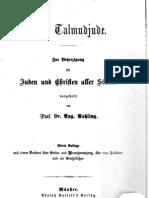 Rohling, August - Der Talmudjude (1872, 73 S., Scan, Fraktur)