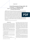 Changes in Dental Arch Measurements of Young Adults With