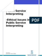 Ethical Issues in Public Service Interpreting