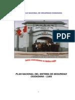 Plan Nacional Del Sistema de Seguridadciudadana2003
