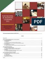 Plan Nacional de Seguridad Ciudadana 2011