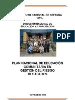 PLAN NACIONAL de EDUCACIoN-Gestiondelriesgodedesastres
