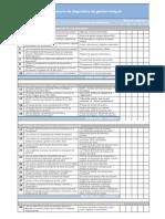 Cuestionario de diagnóstico de gestión integral