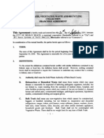 Exhibit #3 - Solid Waste Vegetative Waste & Recycling Collection Franchise Agreement - 2001
