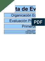 1C Kinderplay 15 Pauta 01 Evaluación Organización Equipo de Trabajo