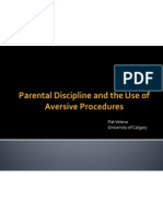 parental discipline and the use of aversive procedures - veleno