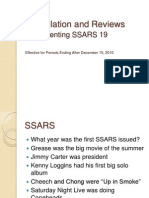 SSARS 19 - Compilation and Reviews