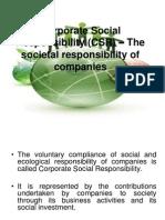 Corporate Social Responsibility (CSR) Final