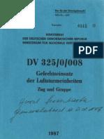 DV 325/0/008 - Gefechtseinsatz der Luftsturmeinheiten - Zug und Truppe /  NVA-Fallschirmjäger