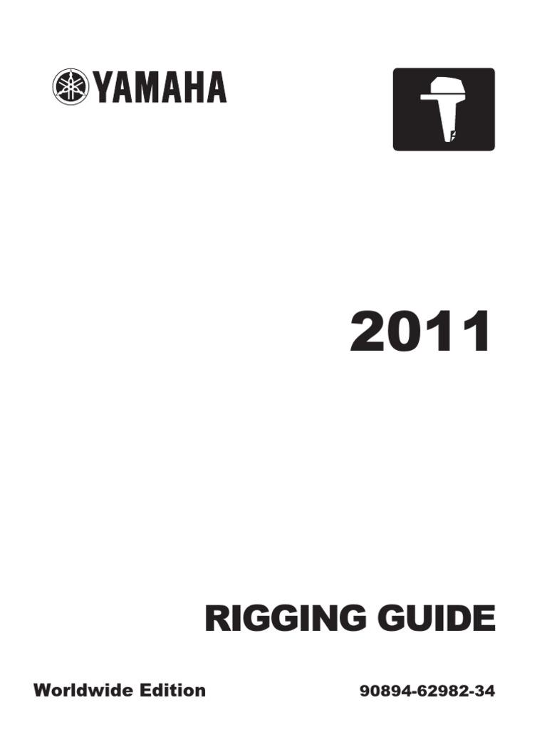 rigging guide yamaha outboard motors 2011 machines vehicle rh scribd com Truss Rigging Manual Rigging Handbook