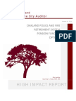 City of Oakland (CA) Auditor's Report