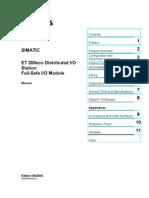ET 200eco - Fail-Safe IO Module