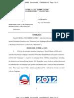 Complaint Obama for America v Demstore