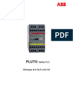 Pluto_Safety PLC_Message and Fault Code List