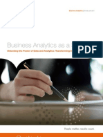 Business Analytics as a Service Unlocking the Power of Data and Analytics Transforming Insight Into Income