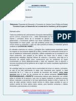 CONSTRUIR PAZ Y DESARROLLO EN LA MENTE DE LOS HOMBRES Y LAS MUJERES