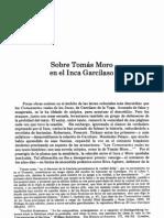 DURÁN LUZIO, Sobre Tomás Moro en el Inca Garcilaso
