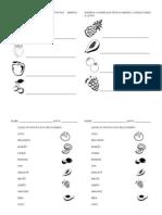 Atividades diversas - alfabetização - Frutas