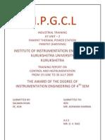PTPS Training Report