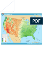 Map of United States - Precipitation, Annual