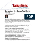 LERA2. Expectativas Economicas de Mexico. 12.7.12