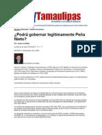 LERA2. Podra gobernar legítimamente Peña Nieto. 27.7.12