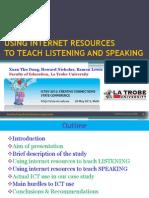 ICTEV 2012-Xuan Thu Dang-using Internet Resources to Teach Listening & Speaking