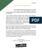 Declaración en apoyo al Pueblo Mapuche