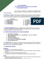 Plan de Gobierno 2012 - 2016.