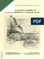 Mississippi River Delta Marshes Ecology (1984)