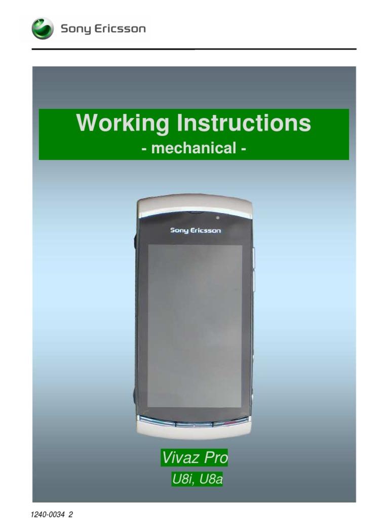 sony ericsson vivaz pro service manual ericsson equipment rh scribd com Old Sony Ericsson R300 Sony Ericsson C902