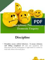Disciplinary Procedures & Domestic Enquiry