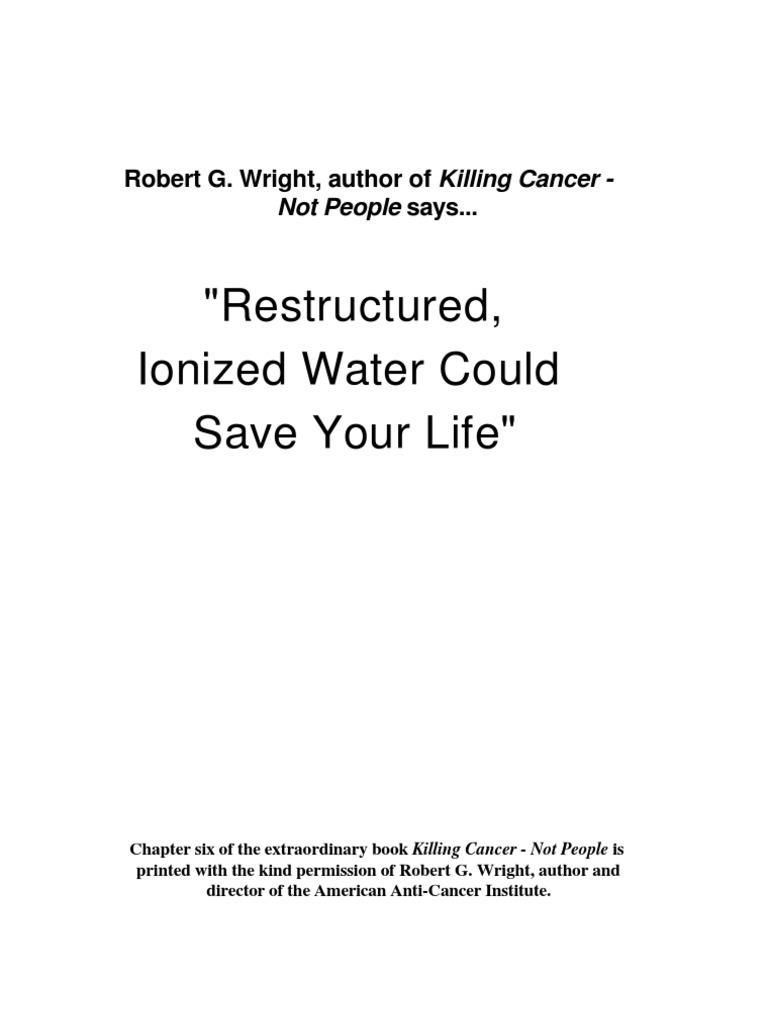 Killing Cancer Not People Chapter 63 | Properties Of Water | Ion
