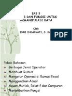 Operator Pada Excel Dan Rumus Fungsi Di Excel