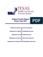 TX Health & Human Services System, Federal Funds Report-2011