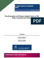 The evolution of primary health care in Fiji