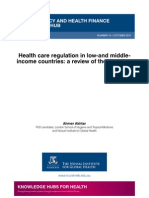 Health care regulation in low-and middle-income countries