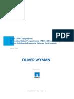 Oliver Wyman Database Total Cost Comparison