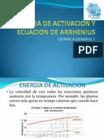 Energia de Activacion y Ecuacion de Arrhenius