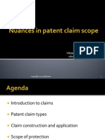 Nuances in Patent Claim Scope
