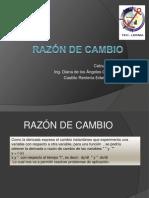 RAZÓN DE CAMBIO