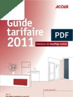 Catalogue Acova 2011, radiateur eau chaude