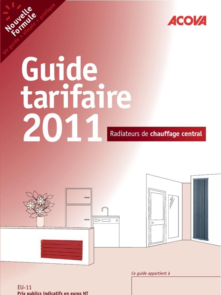 Acova Garantie à catalogue acova 2011, radiateur eau chaude
