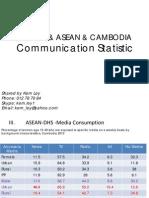 Global, ASEAN & Cambodia Communication Statistic Uly 2012