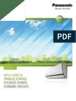 Sisteme Rezidentiale de Incalzire si Racire Panasonic Etherea 2012