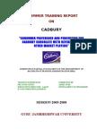 consumer preference and perception for Cadbury chocolates