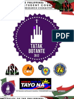 TATAK BOTANTE (Primer for Student Council Collaboration)