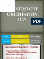 How to Conduct the Cornerstone Orientation Day