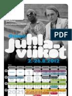 Oulun juhlaviikot käsiohjelma 2012