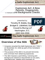 Safe Explosives Act